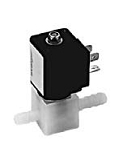 Plastic valves - PA 202-002 - 3-way solenoid valve, direct actuated, NC (normally closed)