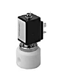 Teflon® valves - QE 292-001 - 2-way solenoid valve, direct actuated, NC (normally closed), with bellow separating