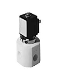 Teflon® valves - QE 603-002 - 3-way solenoid valve, switching function, with bellow separating