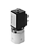 Teflon® valves - QE 682-001 - 3-way solenoid valve, switching function, with bellow separating