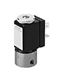 Stainless Steel Valves - VA 381-002 - 3-way solenoid valve, direct actuated, NC (normally closed)