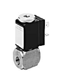 Stainless Steel Valves - VA 391-006 - 3-way solenoid valve, direct actuated, NC (normally closed)